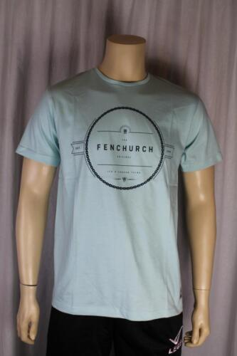 FENCHURCH uomo verde menta T SHIRT TAGLIA MEDIA (89)