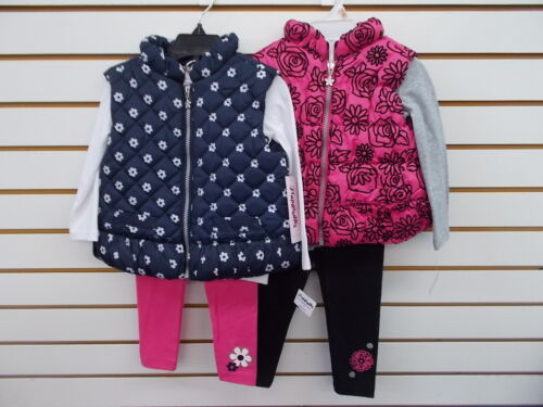 Toddler & Girls Flapdoodles $59 3pc Navy or Pink Plush Vest Sets Size 2/2T - 6X