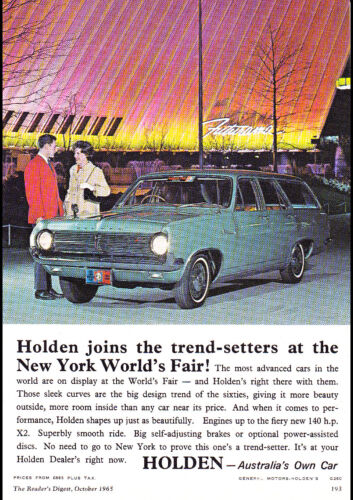 "1966 HR HOLDEN AD PRINT WALL POSTER PICTURE 33.1""x23.4"""