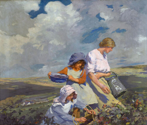 Blackberry Gathering  by Elizabeth Forbes  Giclee Canvas Print Repro