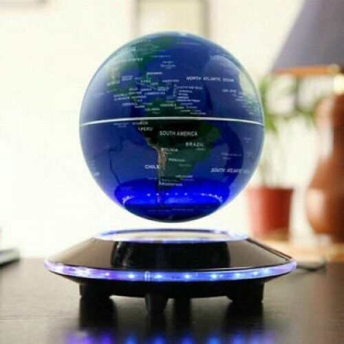 New Home Room Decor Floating World Globe Map Magnetic Levitation With LED Light