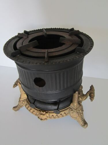 Vintage / Antique Victorian cast iron 2 burner cook Stove fuel oil kerosene