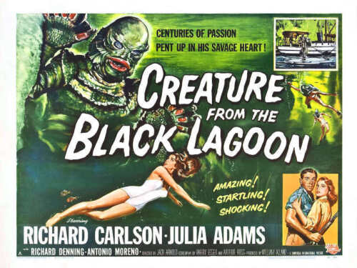 1954 CREATURE FROM THE BLACK LAGOON VINTAGE MOVIE POSTER PRINT STYLE C 18x24