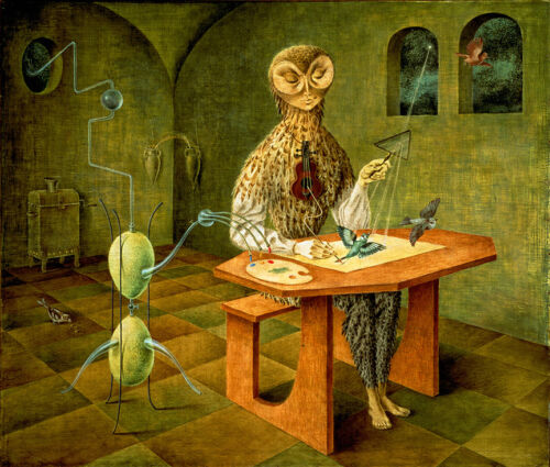 """Creation of the Birds  by Remedios Varo   20"""" Paper Print  Repro"""
