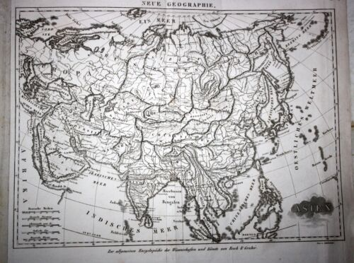 ASIA, Chinese Empire, Russian Empire, Japan, Arabia, copper engraved map, 1819