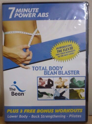 DVD - 7 MINUTE POWER ABS - TOTAL BODY BEAN BLASTER - BRAND NEW IN PLASTIC WRAP