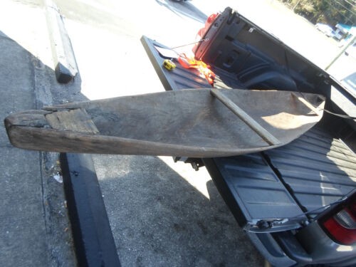 Antique Mahogany FLORIDA Dugout Canoe LOCAL PICK UP ONLY