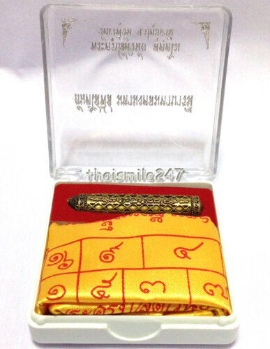 Genuine Takrut Yant Thai Buddha Talisman Amulet Collectible Luck Wealth