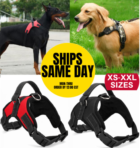 No Pull Adjustable Dog Pet Vest Harness Quality Nylon Small/Medium/Large/XL XXL <br/> 4PAWSPETS✔100% FEEDBACK✔AMERICAN OWNED SMALL BUSINESS