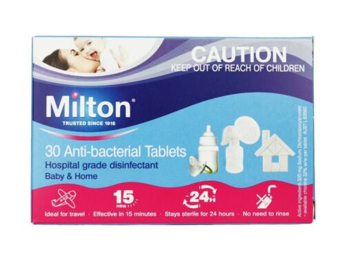 New 30 Tablets Milton Antibacterial Baby Home Hygiene Protection Disinfectant