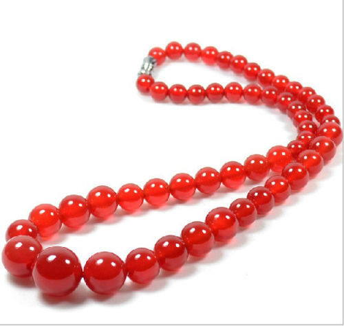 100% china Natural hand carved Brazilian red jade tower chain necklac