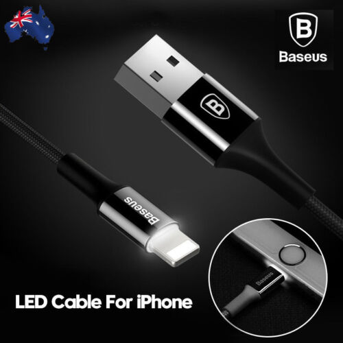 Baseus Charging Cable USB Data Sync 2A with Indicator Light For iPhone iPad iPod