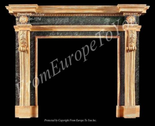 HAND CARVED FRENCH STYLE MARBLE FIREPLACE MANTEL LM0020