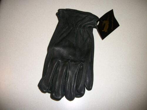 NO1 GRADE MEN BLACK DEER SKIN LEATHER GLOVES BIKE HORSE RIDING WORK OR PLAY MANS
