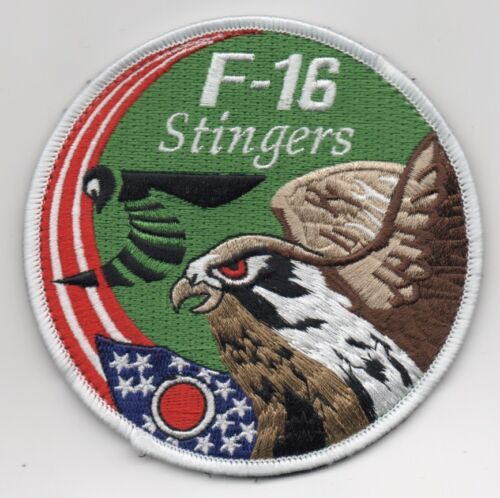 """USAF Patch 112th FIGHTER SQUADRON, F-16 SWIRL, 4"""", with hook side backing,Air Force - 48823"""