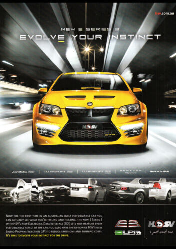 """2011 HSV E SERIES 3 PRINT WALL POSTER PICTURE 33.1/""""x23.4/"""""""