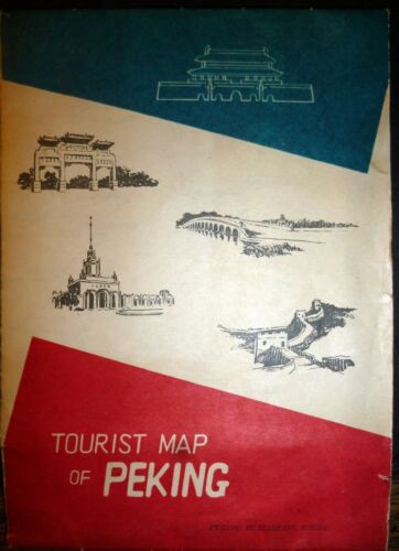 CHINA, large and very detailed map of Peking, printed in CHINA, 1959