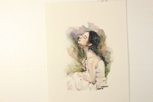 Original Girl Watercolor Painting