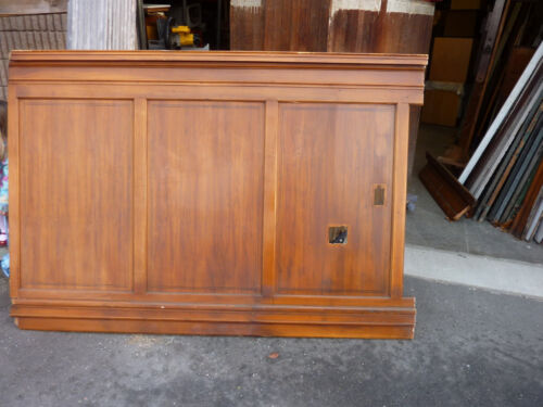 """circa 1930's Maple paneling section 80"""" x 86"""" high from old cutlery shop"""