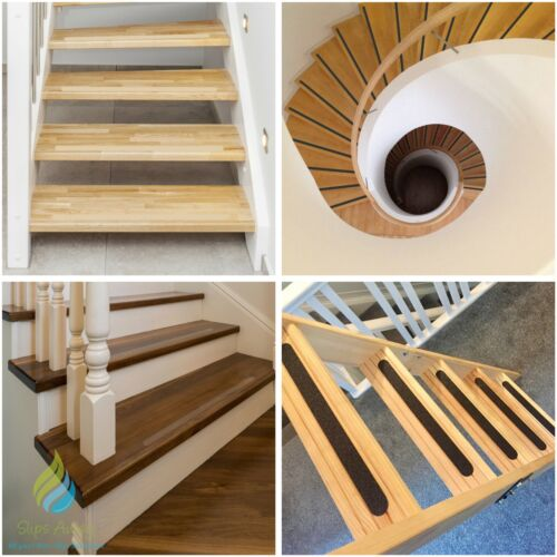 Stair Treads Non Slip Tape High Grip Adhesive Backed Anti Skid Strips for Steps <br/> ***UKs Best Selling Stair Treads***