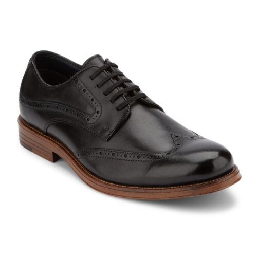 Dockers Mens Hanover Leather Dress Brogue Wing Laceup Oxford Shoe Size 7.5, 8, 9
