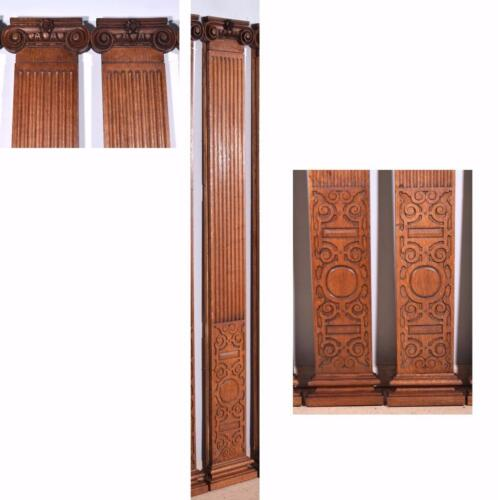 7 Foot Tall Antique Greek Ionic Columns/Pillars in Oak Wood-10 Available!
