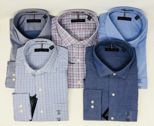 Tommy Hilfiger Men's Regular Fit Wrinkle Resistant Stretch Shirt Variety Sizes