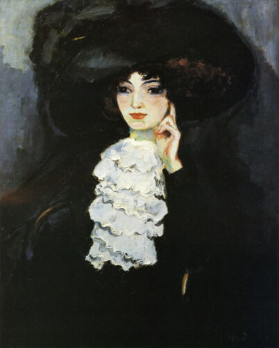 Woman with Frill    by Kees van Dongen  Giclee Canvas Print Repro