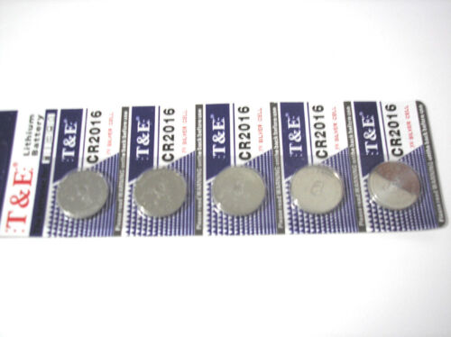 5pcs CR2016 3V Lithium Watch Calculator Batteries Fast Free Shipping