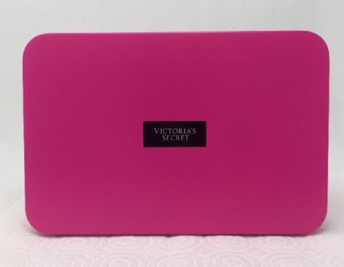 Victoria's Secret Collectible Tin Storage Box Travel Size Cosmetics Hot Pink