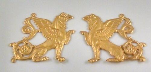 GOLD ROYAL  FURNITURE HARDWARE MOUNT NEOCLASSICAL ORMOLU GRIFFIN  LION EAGLE