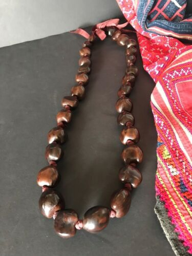 Old Hawaiian Seed Necklace …beautiful accent piece