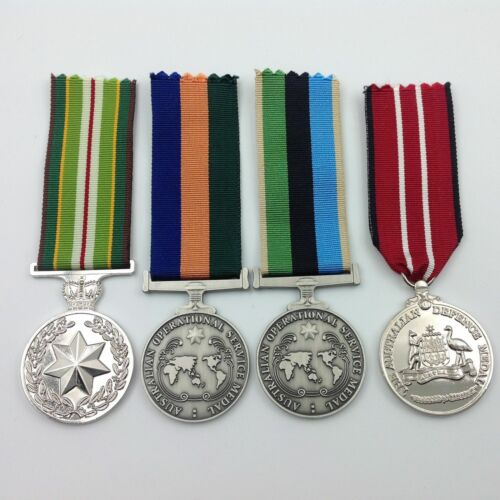 AUSTRALIAN OPERATIONAL SERVICE MEDAL GROUP   AASM   OSM   ADM   COMBAT   ARMYModern, Current - 36066