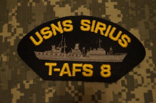 772fe38e $5.33 CAD NEW RARE US Navy USNS Sirius T-AFS 8 Embroidered Cap Military  PatchNavy - 48826