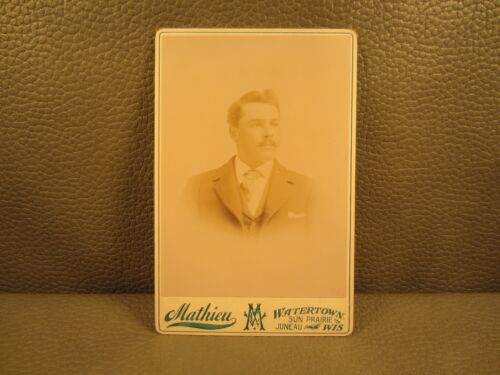 Edwardian Antique Cabinet Card Photo of Young Man ....FREE SHIPPING