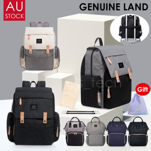 2019 GENUINE LAND Multifunctional Baby Diaper Nappy Backpack Mummy Changing Bag <br/> ❤NEW ARRIVEL  ❤Large Capacity   ❤Free Postage ❤AU STOCK