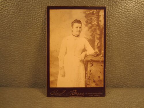 Victorian Antique Cabinet Card Photo of Young Woman....FREE SHIPPING