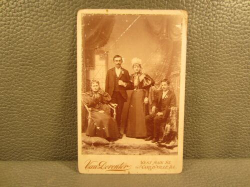 Victorian Antique Cabinet Card of A Family Portrait