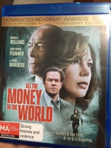 All The Money In The World BLU RAY (2017 Mark Wahlberg drama movie)