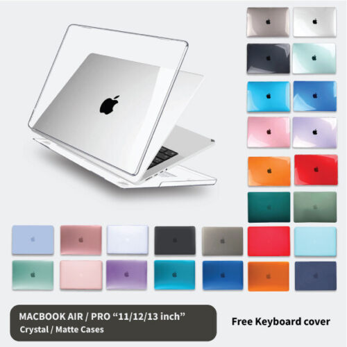 "Apple Macbook Hard Case +  Keyboard Cover Retina Air 11"" 12'' 13"" Pro 13 16 inch"