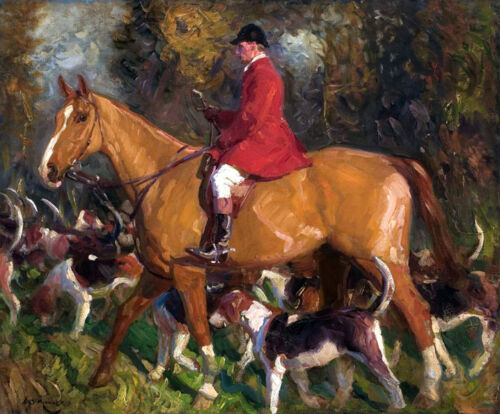 Canvas print On the hunt Oil painting HD printed on canvas L1754