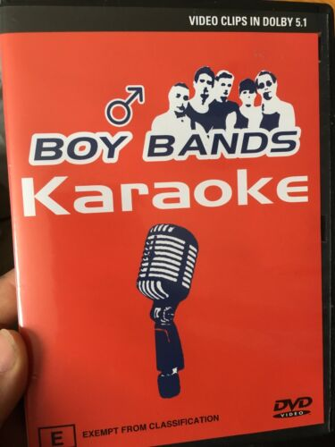 Karaoke - Boy Bands region 4 DVD (music / karaoke)