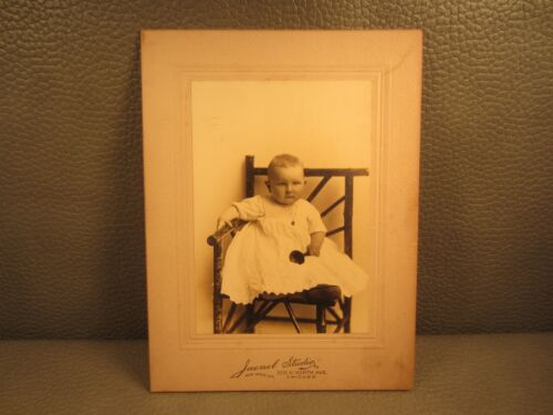 Victorian Antique Cabinet Card Photo of Young Infant Baby Girl