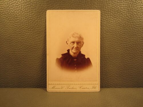Victorian Antique Cabinet Card Photo of an Older Woman, Granny, Grandmother