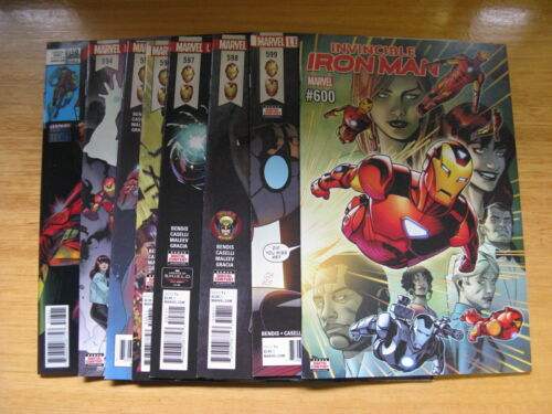 IRON MAN #594 TO 599. THE SEARCH FOR TONY STARK.  MARVEL LEGACY 2018.