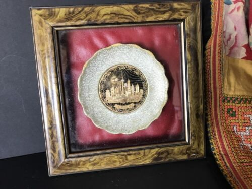 Old Framed Shanghai Plate …beautiful accent / display piece