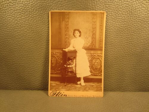 Victorian Antique Cabinet Card Photo of a Young Girl ......FREE SHIPPING