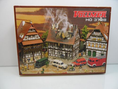 Vollmer 3728 - HO - Brennendes Haus - TOP in OVP - #9350