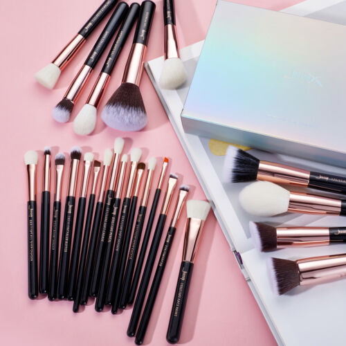 AU 25Pcs Complete Makeup Brushes Set Cosmetic Tool Foundation Rose Gold Jessup <br/> New AU Storehouse/Stipping Cheek Eyeshadow Brow Powder