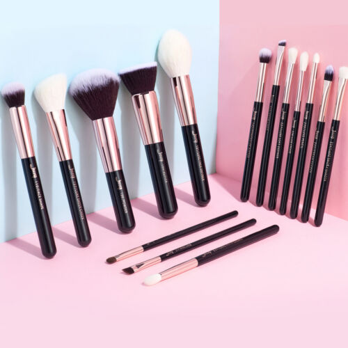AU Jessup Professional Makeup Brushes Set Cosmetic Foundation Powder Brow  15Pcs <br/> 3-5 Days Delivery✔Cheek Eyeshadow Concealer Rose Gold
